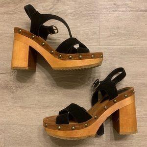 Jeffrey Campbell Wood Platform Sandals